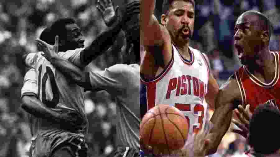 Montagem Pelé e Michael Jordan - undefined