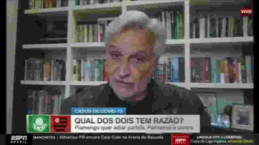 Sormani critica Palmeiras por não concordar com adiamento de jogo contra o Flamengo - Reprodução/ESPN