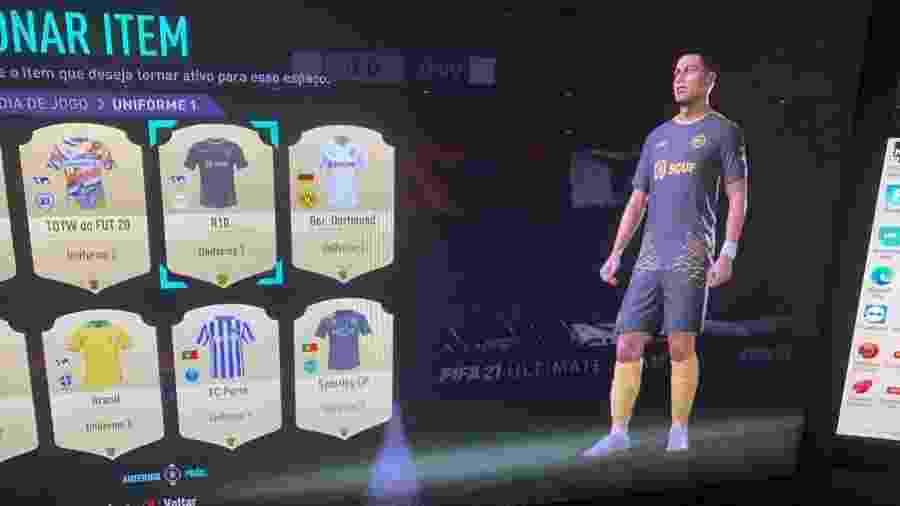 R10 Team, equipe de esports do Ronaldinho Gaúcho, ganhou uniforme no FIFA 21 - Reprodução