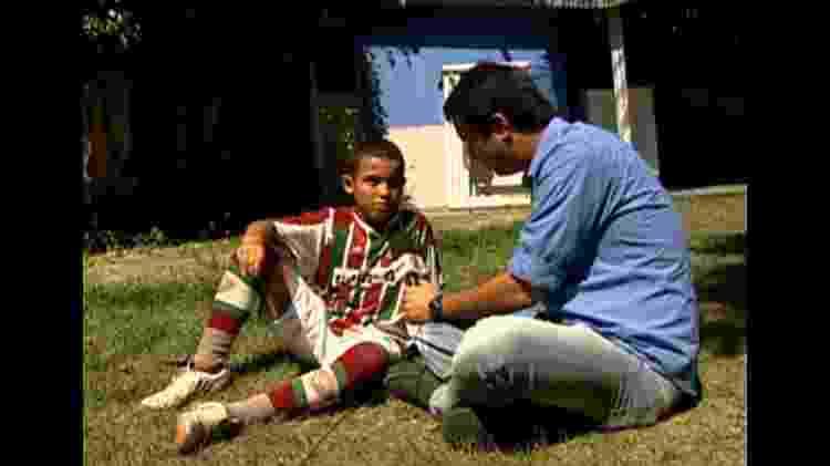 Fã de Fred, o tricolor Raílson foi personagem de reportagem do Esporte Espetacular em 2011 - Reprodução/TV Globo - Reprodução/TV Globo