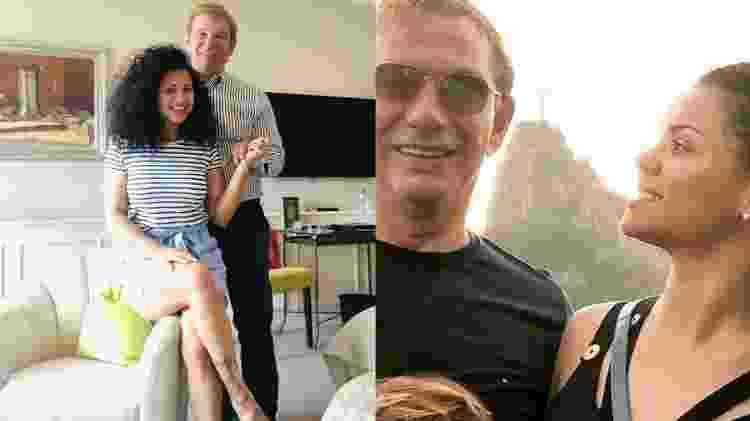 A ex-boxeadora publicava fotos ao lado do marido em seu Instagram; O casal inclusive já viajou para o Rio de Janeiro (à dir.) - Reprodução/Instagram - Reprodução/Instagram