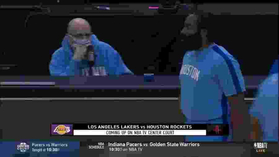 Físico de Harden chamou atenção na rodada da NBA - Reprodução