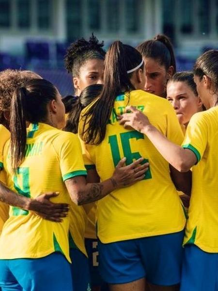 Em 2020, a CBF igualou o pagamento de diárias e premiações para os jogadores e jogadoras das seleções brasileiras masculinas e femininas - Reprodução/Twitter