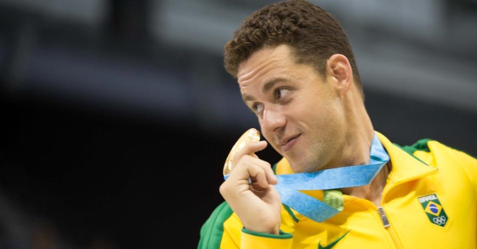 1) Thiago Pereira ganhou três ouros, uma prata e um bronze na natação. De quebra se tornou o maior medalhista de toda a história dos Jogos Pan-Americanos