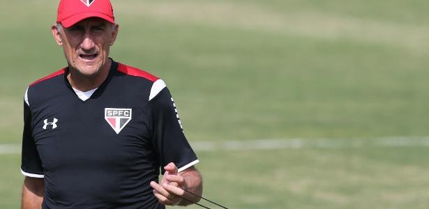 Bauza comandou o último treino como técnico do São Paulo nesta quarta