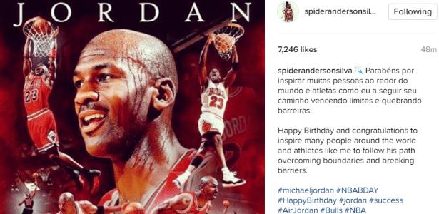 Anderson Silva presta homenagem para Michael Jordan - Reprodução/Instagram