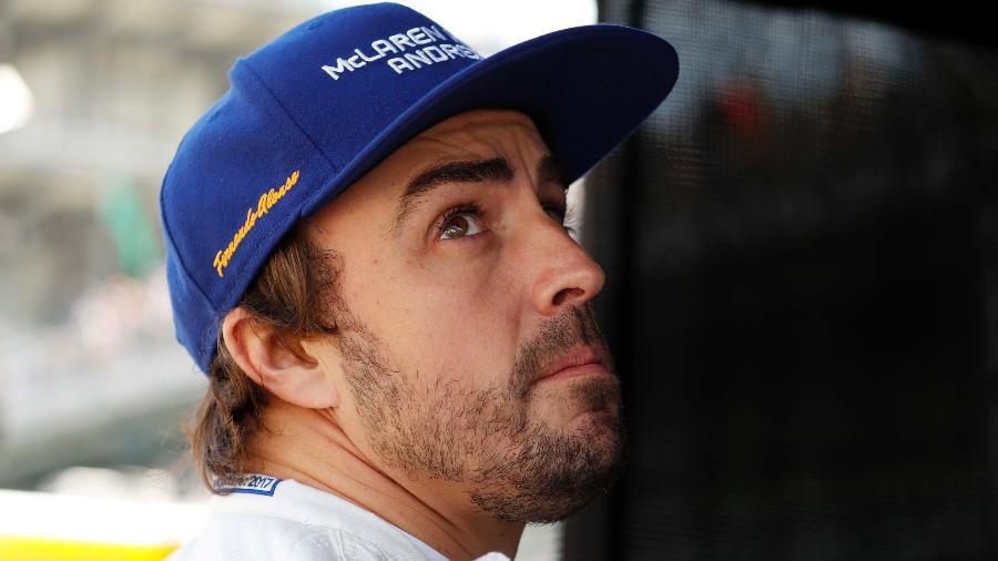 Fernando Alonso durante o último treino livre para as 500 Milhas de Indianápolis - Brian Spurlock/USA TODAY Sports