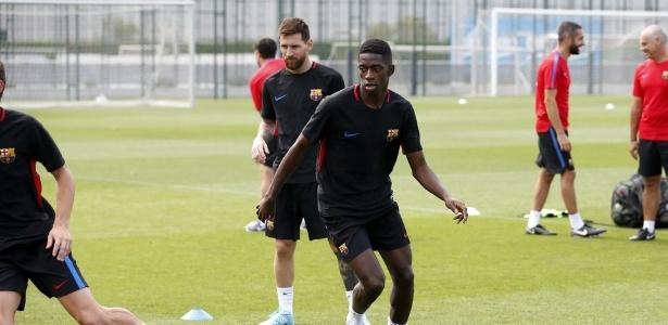 Messi e Dembelé treinaram pela primeira vez juntos