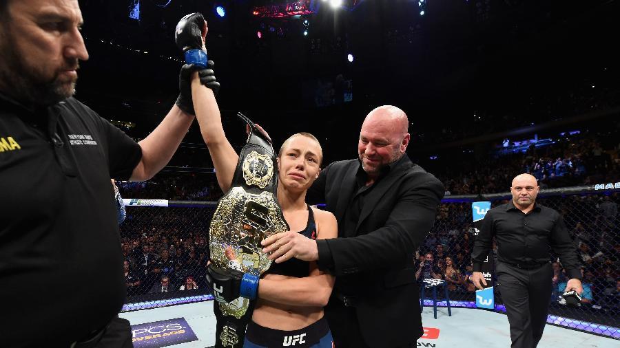 Rose Namajunas é a nova campeã peso palha do UFC - Josh Hedges/Zuffa LLC/Zuffa LLC via Getty Images