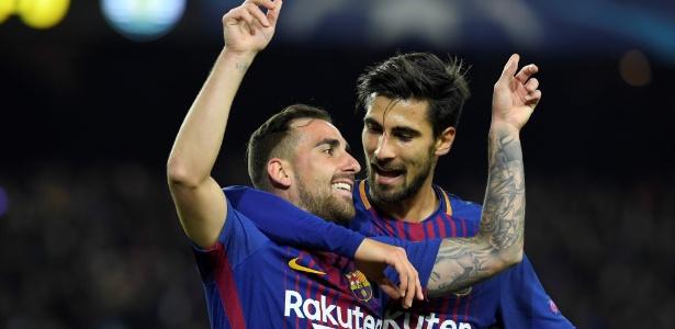 Paco Alcácer e André Gomes foram titulares na vitória tranquila do Barcelona