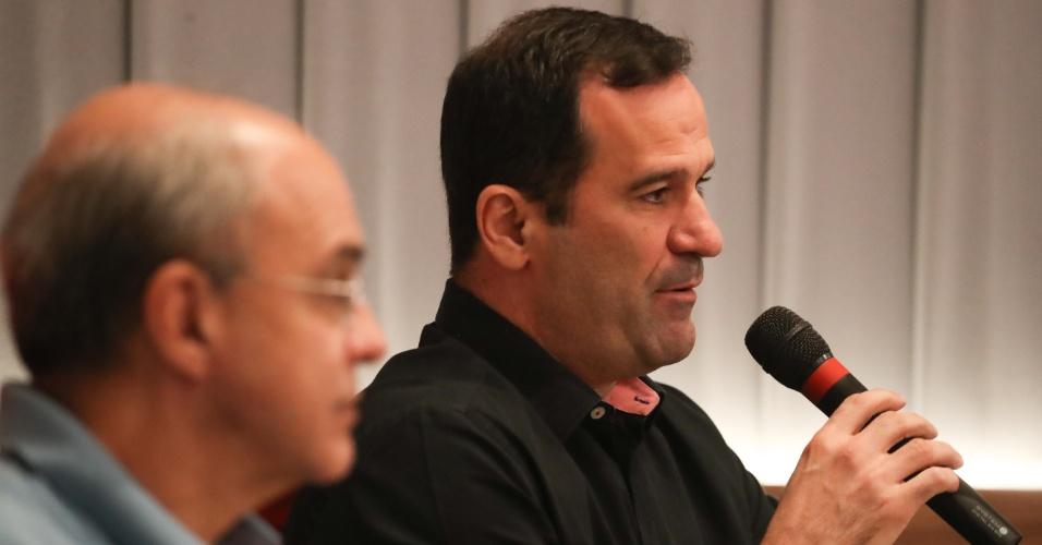 Ricardo Lomba e o presidente Bandeira de Mello: guerra declarada nos bastidores do Fla