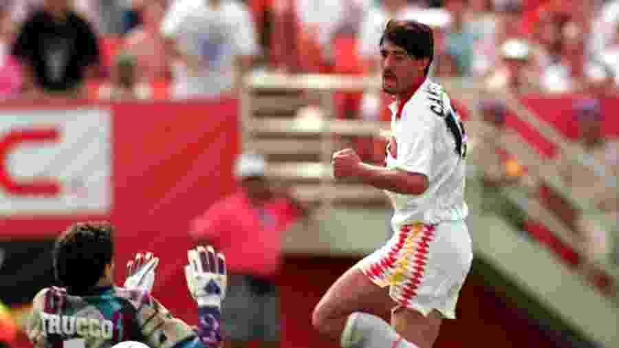 José Luis Caminero defendeu a Espanha na Copa do Mundo de 1994 (foto); atualmente, é diretor esportivo do Málaga - Ben Radford/AllSport/Getty Images