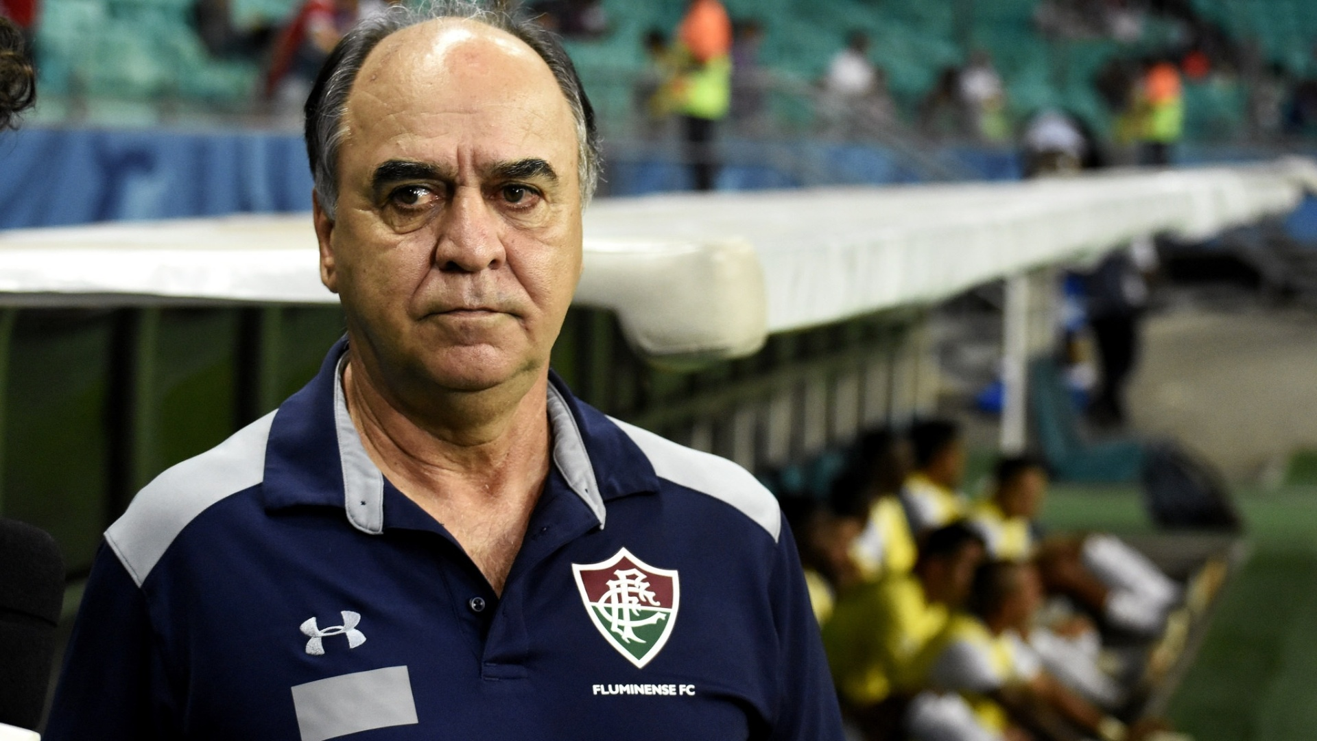 Marcelo Oliveira, técnico do Fluminense, durante jogo contra o Bahia