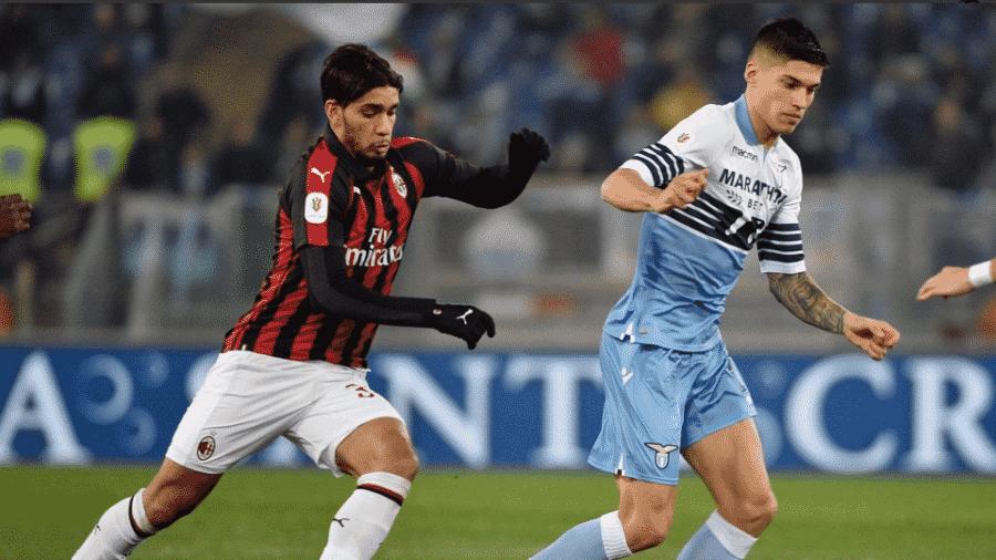Lucas Paquetá, durante partida entre Milan e Lazio - Divulgação/Lazio