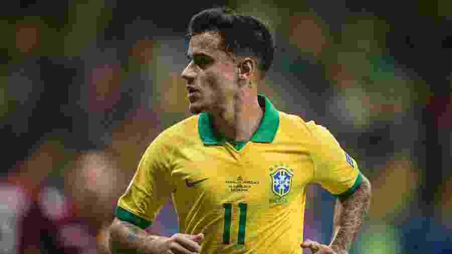 Coutinho, durante partida entre Brasil e Venezuela - Pedro Martins / MoWA Press