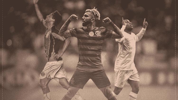 Gabigol comemora ser o maior artilheiro dos pontos corridos do Brasileirão - Reprodução/Instagram - Reprodução/Instagram