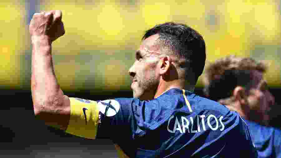 Tevez, atacante do Boca Juniors - Xinhua/Luna Alfredo/TELAM