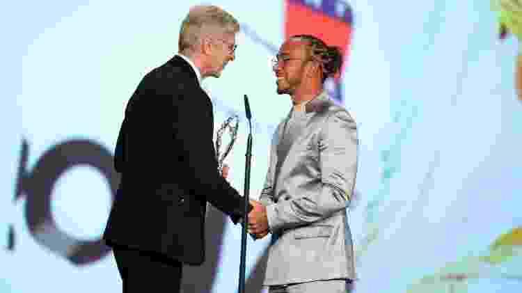 Arsène Wenger entrega prêmio Laureus a Lewis Hamilton - Andreas Rentz/Getty Images for Laureus - Andreas Rentz/Getty Images for Laureus