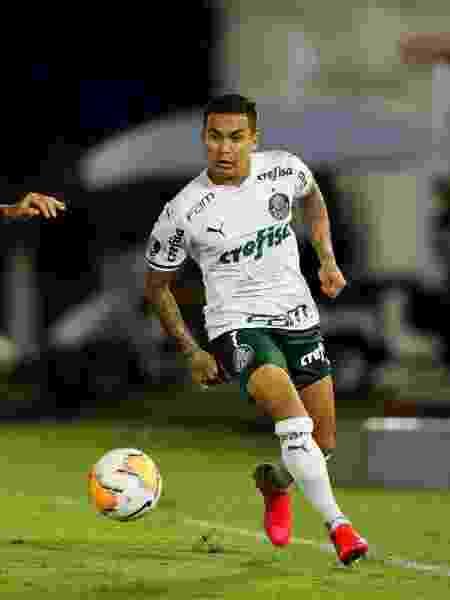 Dudu em ação pelo Palmeiras diante do Tigre, na estreia da Libertadores 2020 - Agustin Marcarian/Reuters