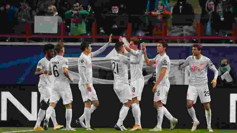Goretzka abriu o placar para o Bayern de Munique contra o Lokomotiv - MAXIM SHIPENKOV/AFP