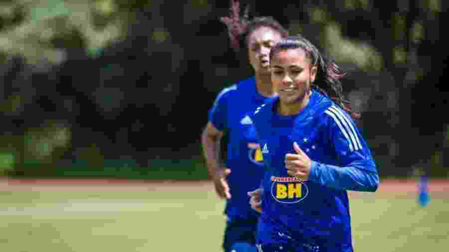 Miriã, atacante do Cruzeiro, é a décima atleta do time feminino com Covid-19 - Vinnicius Silva/Cruzeiro