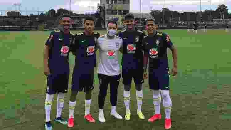 Joias do Fluminense, Alexsander, Jefté, João Neto e Matheus Martins estão com a seleção brasileira sub-18 - Divulgação/Fluminense FC - Divulgação/Fluminense FC