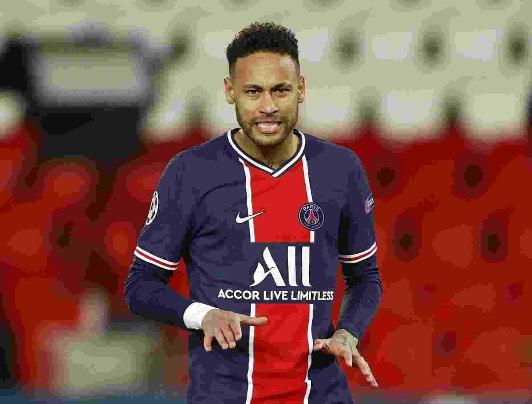 Neymar durante PSG x Bayern, pela Liga dos Campeões - CHRISTIAN HARTMANN/REUTERS