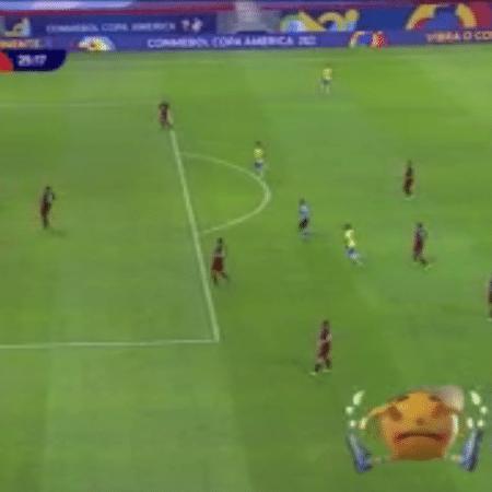 Amarelinho chorou após gol anulado da seleção brasileira - Reprodução/SBT