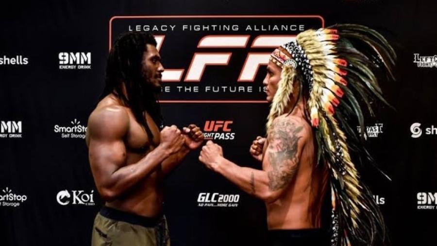 Lutador de MMA Renato Valente (direita)  - Divulgação/LFA