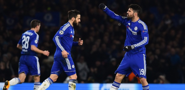 Diego Costa marcou o gol do Chelsea contra o PSG nesta quarta