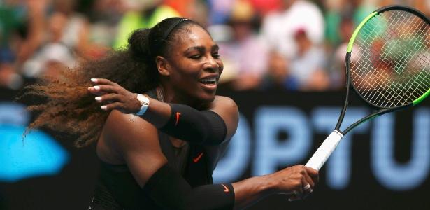 Serena Williams já estava grávida quando venceu o Aberto da Austrália em janeiro - Thomas Peter/Reuters