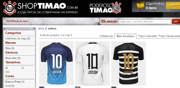 ca023a9a83 Corinthians vende camisas 10 de Jadson antes de assinatura de contrato