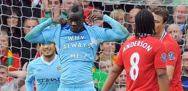 Mario Balotelli jogou no Manchester City entre 2010 e 2013