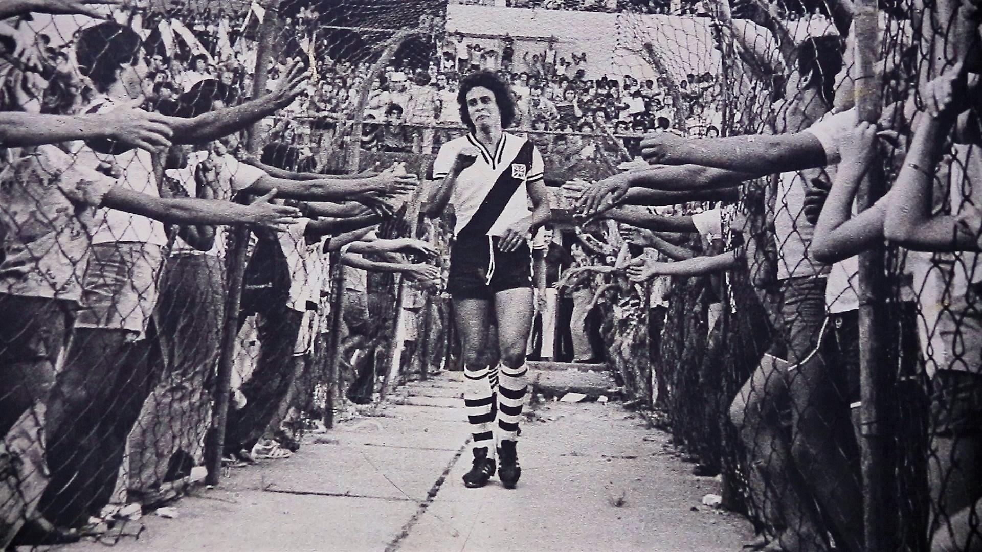 Roberto Dinamite em jogo do Vasco