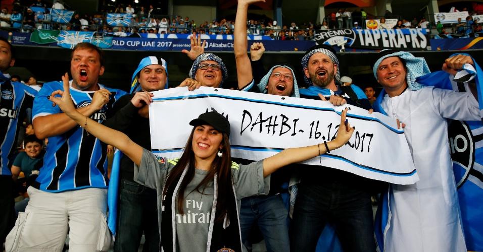 Torcedores do Grêmio em Abu Dhabi para a final