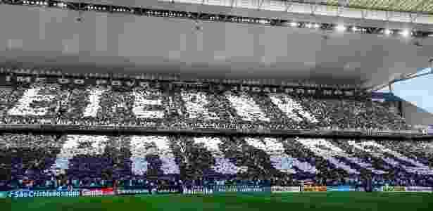 Mosaico da torcida do Corinthians - Ale Cabral/AGIF - Ale Cabral/AGIF