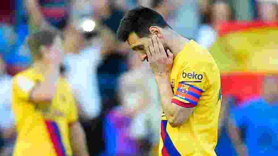 Lionel Messi durante Levante x Barcelona - Jose Jordan/AFP