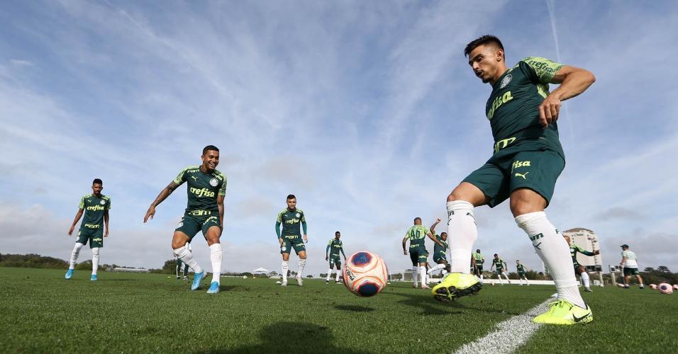Jogadores do Palmeiras durante treino nos Estados Unidos