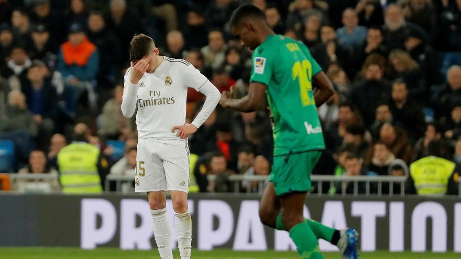 Alexander Isak comemora gol marcado contra o Real Madrid na Copa do Rei - SUSANA VERA/REUTERS