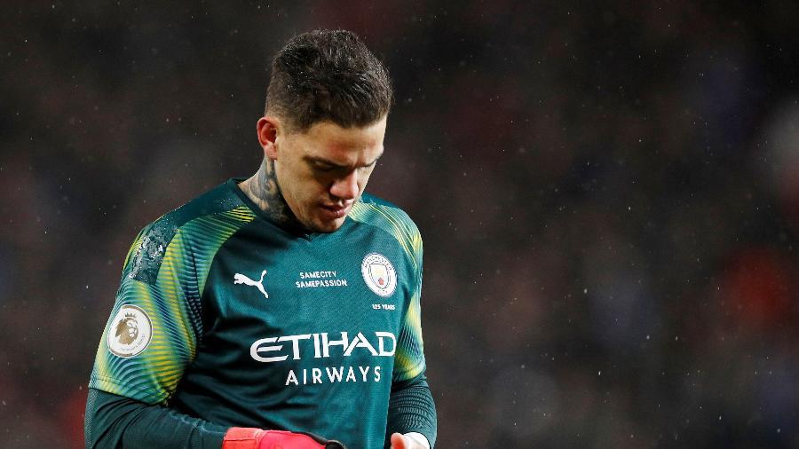 Ederson falhou em dois gols na derrota do City para o United - Phil Noble/Reuters