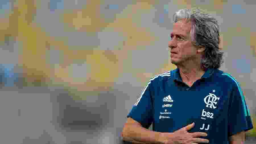 Jorge Jesus comanda o Flamengo diante a Portuguesa-RJ - Thiago Ribeiro/AGIF