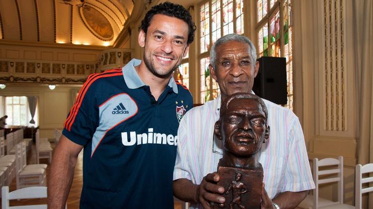 Fred com Waldo, maior artilheiro da história do Fluminense, em 2012 - Bruno Haddad/Fluminense FC - Bruno Haddad/Fluminense FC