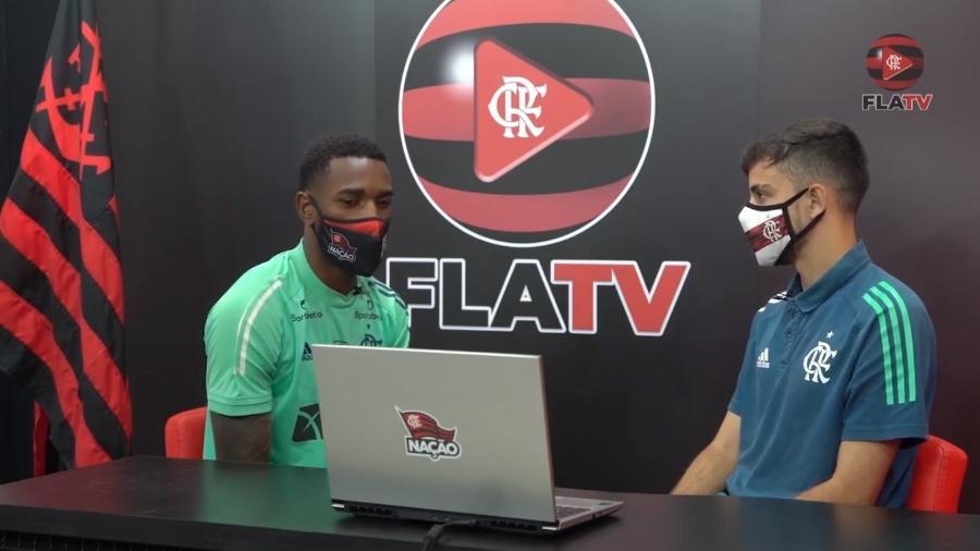 Gerson, em entrevista à FlaTV, canal do Flamengo - Reprodução FlaTV