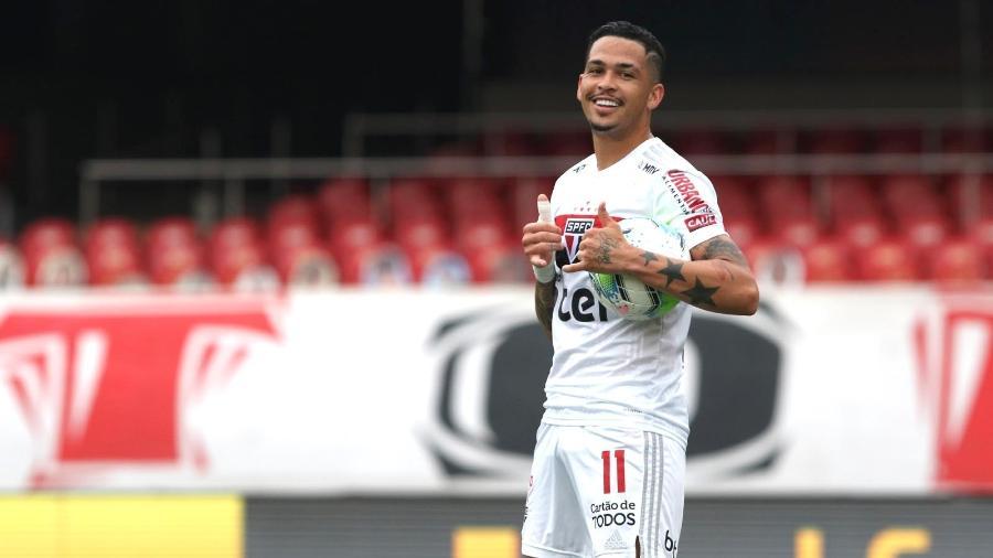 Luciano, atacante do São Paulo, deve estar em campo contra o Inter nesta quarta-feira - Rubens Chiri / saopaulofc.net