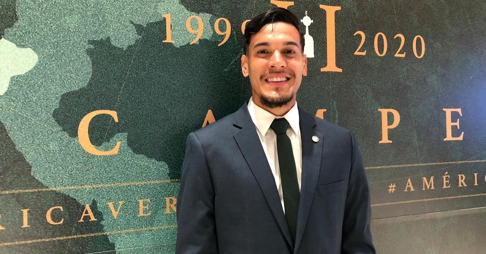 Palmeiras: Gustavo Gómez embarcando para o Mundial de Clubes no Qatar