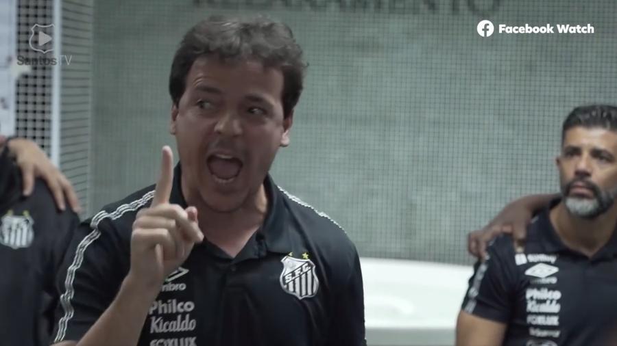 Fernando Diniz antes do clássico entre Santos e São Paulo - Reprodução