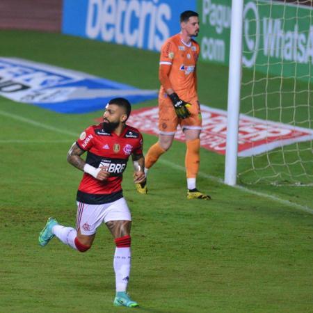 Gabigol comemora o seu primeiro gol - JEFFERSON PEIXOTO/FUTURA PRESS/FUTURA PRESS/ESTADÃO CONTEÚDO