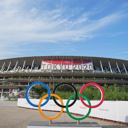 Estádio Olímpico de Tóquio, onde 10 mil VIPs terão acesso na cerimônia de abertura - Michael Kappeler/picture alliance via Getty Images