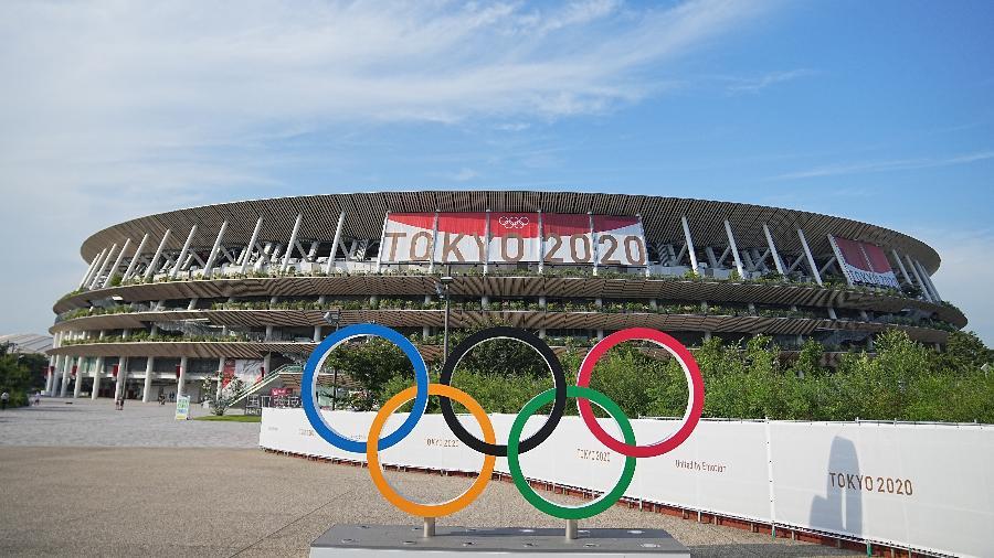 Estádio Olímpico de Tóquio, uma das principais sedes das Olimpíadas - Michael Kappeler/picture alliance via Getty Images