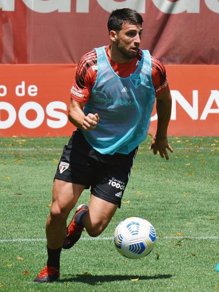 Quem jogou menos de 30 minutos contra o América-MG, caso de Calleri, treinou com bola no CT da Barra Funda - Erico Leonan / saopaulofc